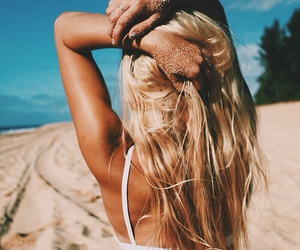beach, Forever Young, and girl image
