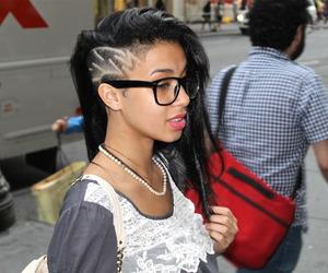 girl, hair, and undercut image