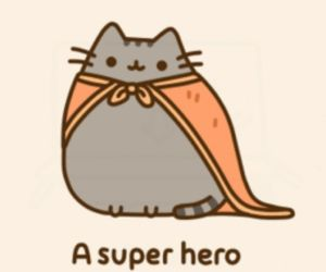 cat, pusheen, and hero image