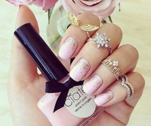 nail, pink, and ring image
