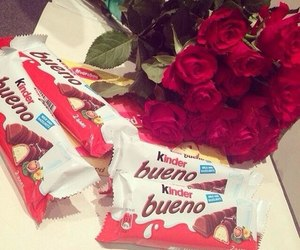 chocolate, rose, and kinder image