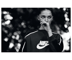 nike, black and white, and girl image