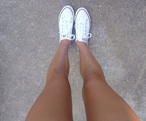legs, converse, and shoes image