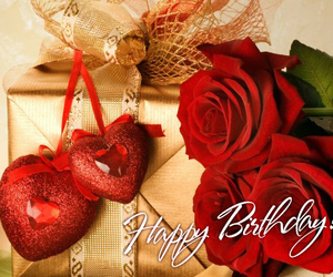 gift, happy birthday, and red image
