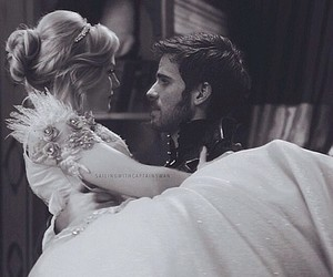 once upon a time, captain swan, and dress image