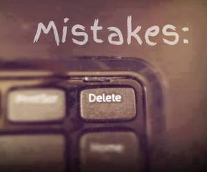 mistakes, delete, and quote image