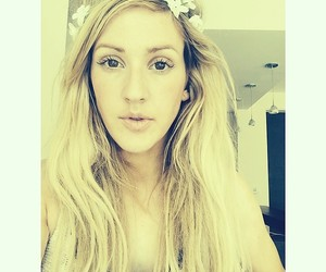 Ellie Goulding, beautiful, and flowers image