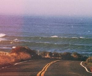 road, sea, and beach image