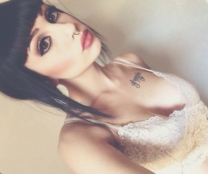 beautiful, make up, and piercing image