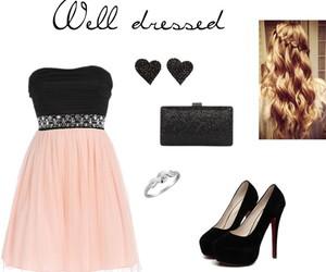 black, curls, and dress image