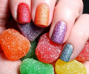 colorful, sweet, and nails image