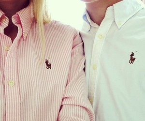 couple, ralph lauren, and pink image
