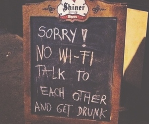 drunk, wifi, and talk image