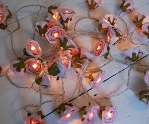 fairy lights, a&jroominspiration, and shabby chic image
