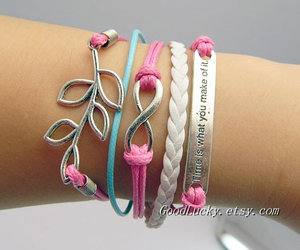bracelet, leather bracelet, and cute image