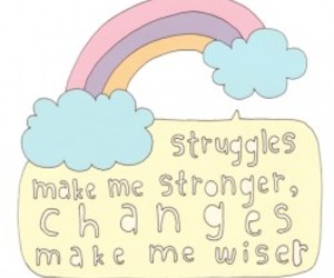 quote, rainbow, and strong image