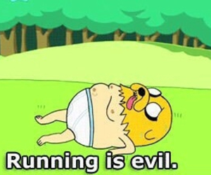 adventure time, JAKe, and running image