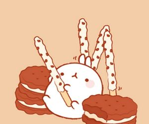 adorable, cookie, and molang image