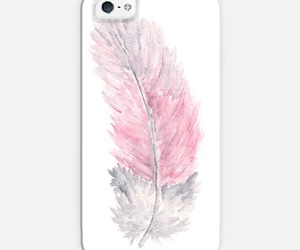 feather, drawing, and pink image