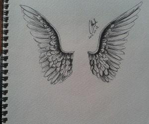 angel, art, and draw image