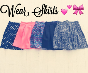 girls, skirts, and wear image