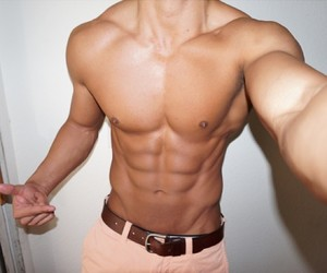 boy, Hot, and abs image