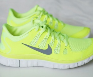 nike, shoes, and neon image