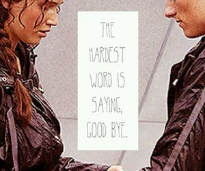 goodbye, word, and hunger games image
