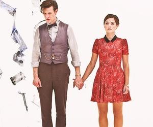 doctor who, clara oswald, and matt smith image