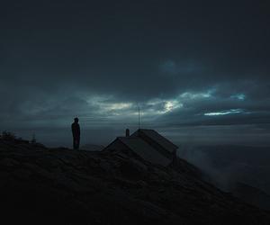 dark, alone, and grunge image