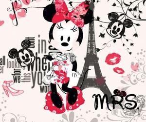 minnie, paris, and disney image