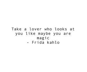 frida kahlo, magic, and lover image