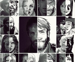 the walking dead and comic image