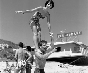 vintage, beach, and couple image