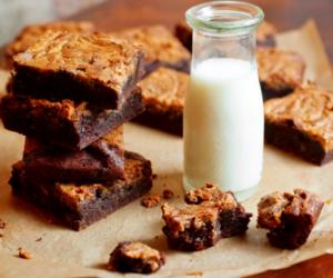 food, milk, and chocolate image