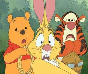 rabbit, winnie the pooh, and tigger image