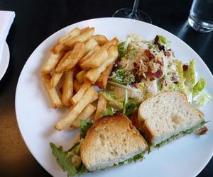 food, salad, and fries image