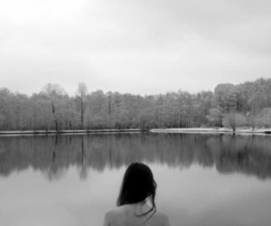 girl and lake image