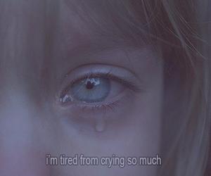 sad, crying, and cry image