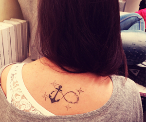 tattoo, tattoo anchor, and roman numeral tattoo image