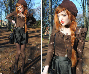 autumn, fall, and hairstyle image