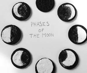 moon, oreo, and phases image