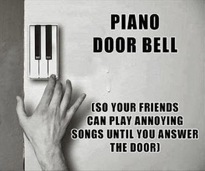 annoying, funny, and piano image