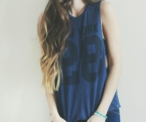 girl, fashion, and ombre image
