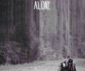 alone, the walking dead, and twd image