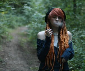 dreads, red, and red hair image