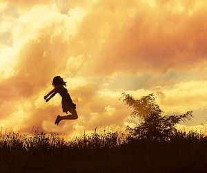 photography, girl, and jump image