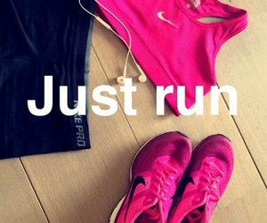 nike, run, and fit image