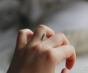 tattoo, infinity, and hand image