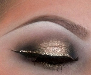 artistic, brown, and glitter image